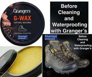 G-Wax Grangers 80g Leather Shoe Boot Waterproofer Proofer Beeswax Polish Dubbing