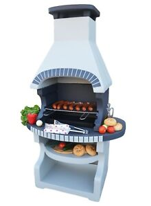 Masonry BBQ barbecue garden grill fireplace outdoor charcoal cooking massive