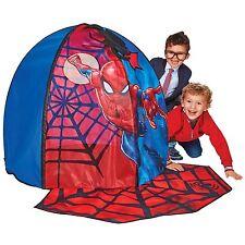 MARVEL SPIDERMAN SECRET DEN POP UP PLAY TENT CHILDRENS WITH PEEK THROUGH WEB