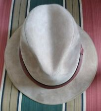 DOBBS Fifth Avenue Suede Leather Fedora Hat  FAWN Men's 6 3/4