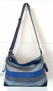 Harveys Seatbelt Bag Large Black Blue Grey VGUC Forever Blue jeans Style USA