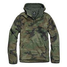 Brandit - Windbreaker with Hoodie Rain Jacket Men's Plus Size Between-Seasons