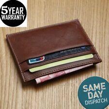 New Genuine Leather Slim Card Holder Wallets For Men - Minimalist RFID Blocking