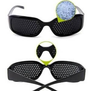 2X Rasterbrille Lochbrille Sehkorrektur Brille Augentraining Sehhilfe Pinhole