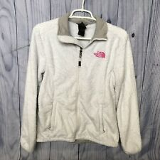 Women's The North Face Fuzzy Jacket, Small, Gray, Zip Up, 100% Polyester