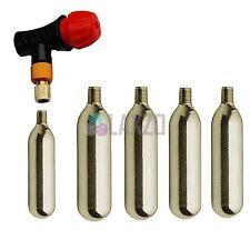 Bike CO2 pump cycle tyre tube inflator Presta Schrader 5 x 16g gas cylinders