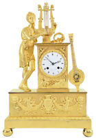 ORPHEE. Kaminuhr Empire clock bronze horloge antique pendule uhren
