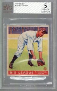 JOE CRONIN 1933 GOUDEY #189 BVG 5 EX **WASHINGTON SENATORS** HOF