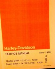 1970-Early 78 Harley-Davidson Service Manual ELect.Gld. FL/FLH 1200 Super Glide