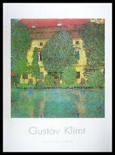 Gustav Klimt Schlosskammer am Attersee Poster Bild Kunstdruck & Rahmen 70x100cm