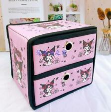 Kuromi pink 2 layers Storage Boxes Beauty Case Cosmetic Box clean bag anime
