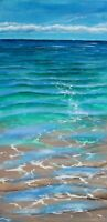 Ocean - Vibrant Original Abstract Acrylic Painting on Stretched Canvas by Galina