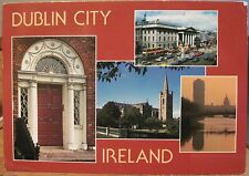 Irish Postcard DUBLIN Multiview Ireland Door GPO John Hinde Studios 2/657 1986