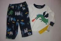 NEW Carter's Baby Toddler Boys Size 12 mo 18 mo 2 Piece Pajamas Set Castle