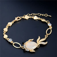 New Design Opal Lady's 18K gold Plated Austrian Crystal Adjustable Bracelet