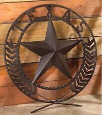 New Metalcraft Lone Star Wall Plaque Wreath Texas Art Sculpture Decoration 38595