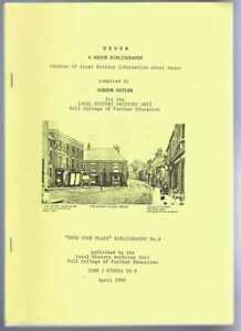 Yorkshire: Gordon Ostler; Hedon: a Hedon Bibliography, Sources of Local History