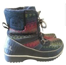 SOREL WOMEN SIZE 7 M  MULTI COLOR LEATHER USED 1X WINTER SNOW