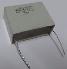 5 x  Iskra 2.2uf 250vac X rated capacitor KNB1510-MKP metallised polypropylene