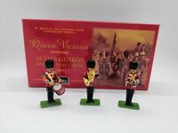 BRITAINS SCOTS GUARDS BAND SET 40202 SIDE DRUM,CLARINET,FRENCH HORN