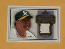 2009 SP Legendary Cuts Gold Jersey Baseball Card # LM-GG2 Goose Gossage /25