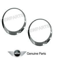 For Mini Cooper S JCW Clubman Roadster Coup Headlight Trim Ring Chrome Set L+R