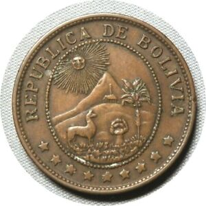 elf Bolivia 50 Centavos 1942  Philadelphia Mint  World War II
