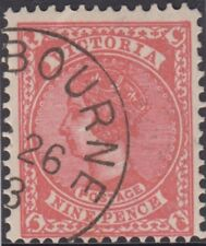 Stamp 9d red sideface Victoria cancelled to order, 26th ? 1903 full gum