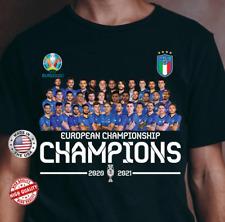 Italia Champions Euro 2020 Shirt Italia National Team T-Shirt Black S-6XL Unisex