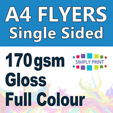 250 A4 Flyer Printing single sided 170 gsm Gloss Stock - Flyers