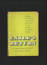 Exile's Return A Literary Odyssey of the 1920's by Malcolm Cowley ( 1st ed. HB )