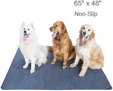 Upgrade NonSlip Dog Pads Extra Large 65 x 48 Washable Puppy Pee Pads Fast Absorb