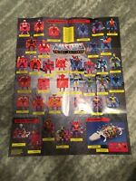 He-Man POSTER Masters of the Universe Official Merchandise Checklist Great Shape