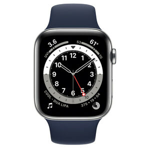 Apple watch series 6 - 40mm - GPS+Cellular - Silver Stainless Case - Navy Sport