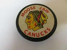 Moose Jaw Canucks 1965 - 1966 Saskatchewan Junior Hockey League Sticker Puck