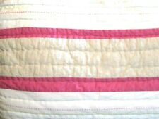 Pottery Barn Kids Quilted Sham Standard Pillow Pink Beige White Jungle Safari