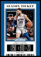 2019-20 Contenders Draft Picks Base #4 Blake Griffin - Detroit Pistons