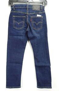 New Levis 511 Big Boys Slim Fit Stretch Fade Denim Blue Adjustable Jeans 12 Reg