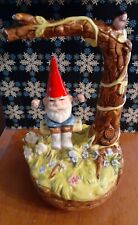 Unieboek Gnome Music Box Gnome on swing David the gnome tree swing 1979 Japan