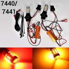 Rear Signal Light T20 7440 W21W Switchback Amber Red 42 LED Bulb K1 BGM HA