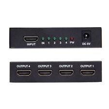 HDMI Splitter 1in4 Out 1080p Full HD Powered Amplifier Box Repeater Hub 4K/2K EK