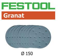 "Festool Granat Abrasive 150mm (6"") 120, 180, 220, 320, 400, 500 Grit - 10 each"