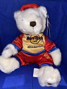 hard rock cafe indianapolis Herrington teddy bear Race Car Driver 2003