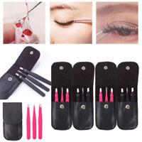 3 Pcs Conjunto De Herramientas De Maquillaje Acero Inoxidable Pinzas De Cejas