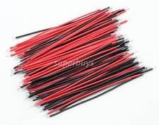 100pc x 50mm Breadboard Bread Board Jumper Jump Cable Wire Tin Plated Blk Red