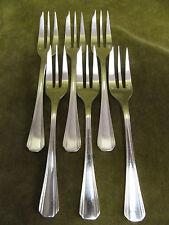 6 fourchettes à gateaux en metal argenté christofle boreal (pastry forks)