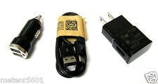 BK HOME WALL+2 Dual Car Charger+MICRO USB CABLE 4 LG,HTC,Samsung Galaxy S5 S4 S3