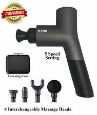 Kyng Fitness Massage Gun PRO PT 26V QUIET Powerful Handheld Percussive Massager!
