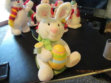 HALLMARK ANIMATED SINGING ROCKIN RABBIT EASTER BUNNY CHICK EGG PLUSH SOUND MUSIC