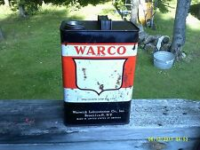 Vintage Warco  Oil 1qal. Oil Can, Empty ~ VERY RARE